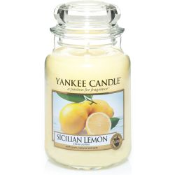 Scented candle Yankee Candle color yellow   Sicilian Lemon Large Jar online price for sale:  29.90 €