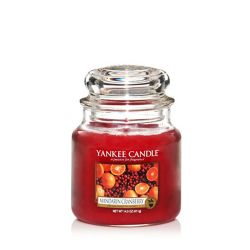 Scented candle Yankee Candle color red   Mandarin Cranberry Medium Jar online price for sale:  24.90 €