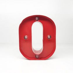 Arredo Casa Pusher color red   Luminous Letter O online price for sale:  9.90 €