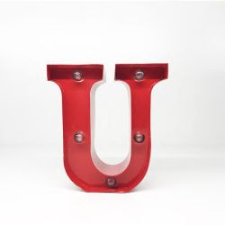 Arredo Casa Pusher color red   Luminous Letter U online price for sale:  9.90 €