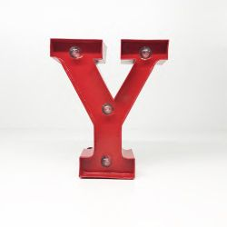 Arredo Casa Pusher color red   Luminous Letter Y online price for sale:  9.90 €