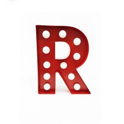 Arredo Casa Pusher color red   Luminous Letter R online price for sale:  17.00 €