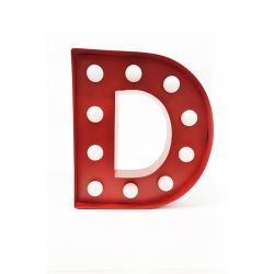 Arredo Casa Pusher color red   Luminous Letter D online price for sale:  17.00 €