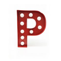 Arredo Casa Pusher color red   Luminous Letter P online price for sale:  17.00 €