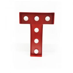 Arredo Casa Pusher color red   Luminous Letter T online price for sale:  17.00 €