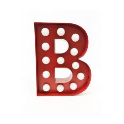 Arredo Casa Pusher color red   Luminous Letter B online price for sale:  17.00 €