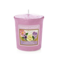 Scented candle Yankee Candle color pink   Floral Candy Votive Candle online price for sale:  2.65 €