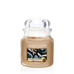 Scented candle Yankee Candle color beige   Seaside Woods Medium Jar online price for sale:  24.90 €