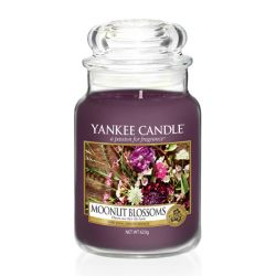 Scented candle Yankee Candle color violet   Moonlit Blossoms Large Jar online price for sale:  29.90 €