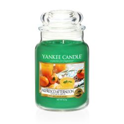 Scented candle Yankee Candle color green   Alfresco Afternoon Large Jar online price for sale:  29.90 €