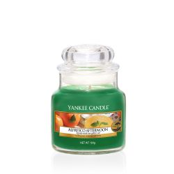Scented candle Yankee Candle color green   Alfresco Afternoon Small Jar online price for sale:  11.90 €