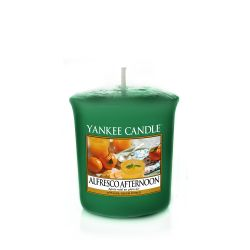 Scented candle Yankee Candle color green   Alfresco Afternoon Votive Candle online price for sale:  2.65 €