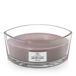 Scented candle WoodWick color brown   Ellipse Candle BLACK AMBER & CITRUS online price for sale:  34.90 €