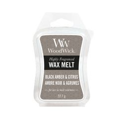 Scented candle WoodWick color brown   Wax Melt BLACK AMBER & CITRUS online price for sale:  2.90 €