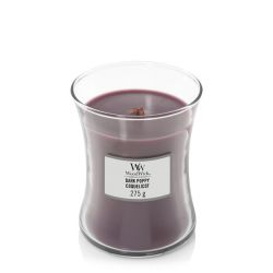 Scented candle WoodWick color violet   Medium Candle DARK POPPIES online price for sale:  21.90 €