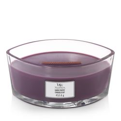 Scented candle WoodWick color violet   Ellipse Candle DARK POPPIES online price for sale:  34.90 €