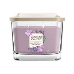 Scented candle Yankee Candle color lilac   Sugared Wildflowers Medium Jar online price for sale:  24.90 €