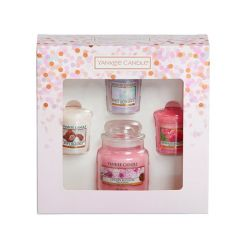 Scented candle Yankee Candle color pink   Gift Set Small Jar & Votive online price for sale:  17.90 €