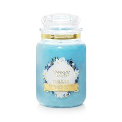 Scented candle Yankee Candle color light blue   Splash of Rain Large Jar online price for sale:  29.90 €