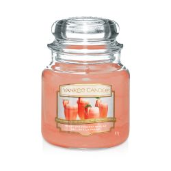 Scented candle Yankee Candle color orange   White Strawberry Bellini Medium Jar online price for sale:  24.90 €