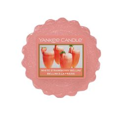 Scented candle Yankee Candle color orange   White Strawberry Bellini Wax Melt online price for sale:  2.25 €