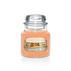 Scented candle Yankee Candle color orange   Grilled Peaches & Vanilla Small Jar online price for sale:  11.90 €