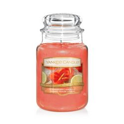 Scented candle Yankee Candle color red   Strawberry Lemon Ice Large Jar online price for sale:  29.90 €