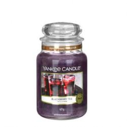 Scented candle Yankee Candle color violet   Blackberry Tea Large Jar online price for sale:  20.93 €