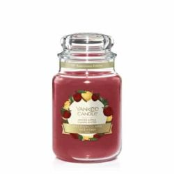 Scented candle Yankee Candle color red   Spiced Apple Large Jar online price for sale:  29.90 €