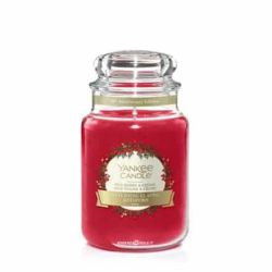 Scented candle Yankee Candle color red   Red Berry & Ceda Large Jar online price for sale:  20.93 €
