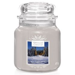 Scented candle Yankee Candle color grey   Candlelit Cabin Jar online price for sale:  17.43 €