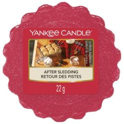 Scented candle Yankee Candle color red   After Sledding Wax Melt online price for sale:  1.57 €