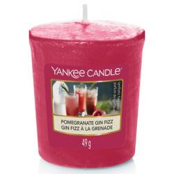 Scented candle Yankee Candle color red   Pomegranate Fin Fizz Votive Sampler online price for sale:  1.85 €