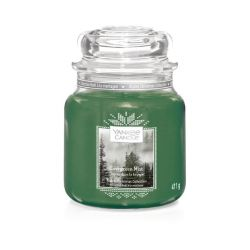 Scented candle Yankee Candle color green   Evergreen Mist Jar online price for sale:  17.43 €