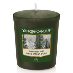 Scented candle Yankee Candle color green   Evergreen Mist Votive Sampler online price for sale:  1.30 €
