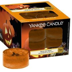 Scented candle Yankee Candle color orange   Trick or Treat Tea Light online price for sale:  9.95 €