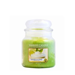 Scented candle Yankee Candle color green   Vanilla Lime Medium Jar online price for sale:  24.90 €