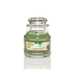 Scented candle Yankee Candle color green   Vanilla Lime Small Jar online price for sale:  11.90 €
