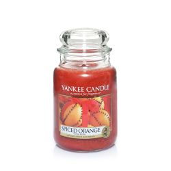 Scented candle Yankee Candle color brown   Spiced Orange Large Jar online price for sale:  22.43 €