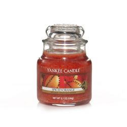 Scented candle Yankee Candle color brown   Spiced Orange Small Jar online price for sale:  11.90 €