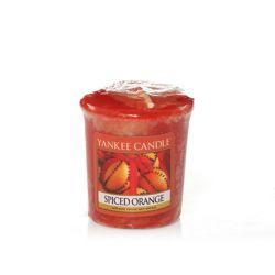 Scented candle Yankee Candle color brown   Spiced Orange Votive Candle online price for sale:  2.65 €