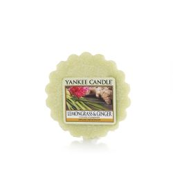 Scented candle Yankee Candle color green   Lemongrass & Ginger Wax Melt online price for sale:  2.25 €