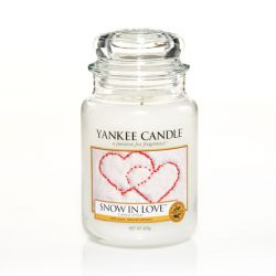 Scented candle Yankee Candle color white   Snow In Love Large Jar online price for sale:  20.93 €