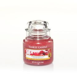 Scented candle Yankee Candle color red   Cranberry Ice Small Jar online price for sale:  11.90 €