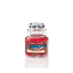 Scented candle Yankee Candle color red   Christmas Eve Small Jar online price for sale:  11.90 €