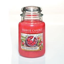 Scented candle Yankee Candle color red   Red Raspberry Large Jar online price for sale:  29.90 €