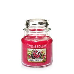 Scented candle Yankee Candle color red   Red Raspberry Medium Jar online price for sale:  24.90 €