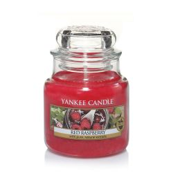 Scented candle Yankee Candle color red   Red Raspberry Small Jar online price for sale:  11.90 €