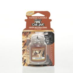 Car scent Yankee Candle color brown   Leather Car Jar Ultimate online price for sale:  5.99 €