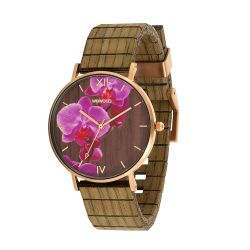 Watches WeWOOD color brown   AURORA flower nut online price for sale:  109.95 €